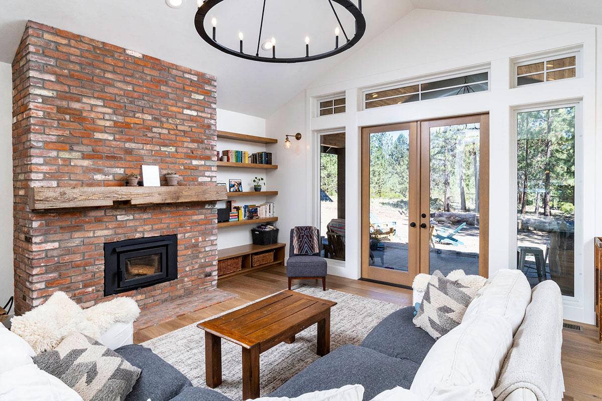 fireplace in custom home