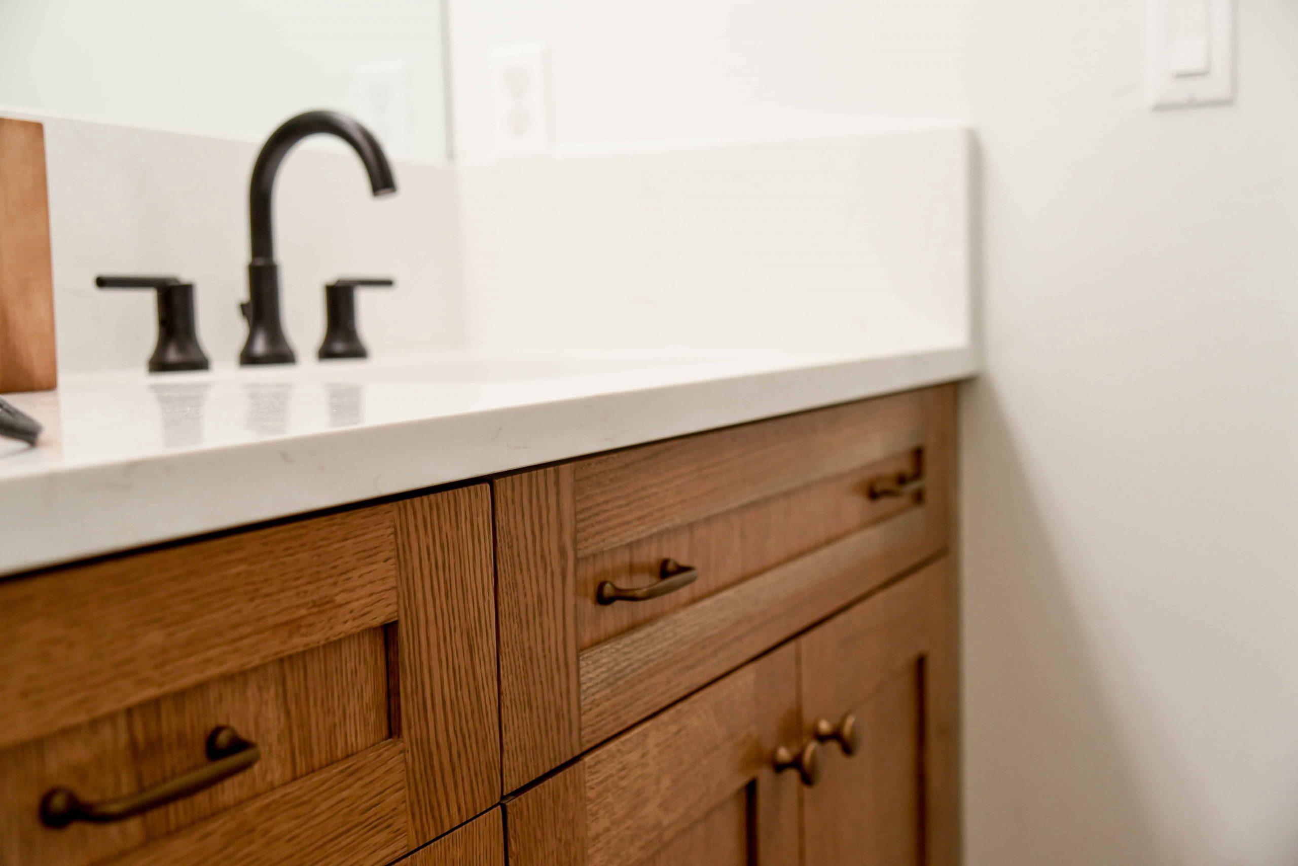 custom sink in new home