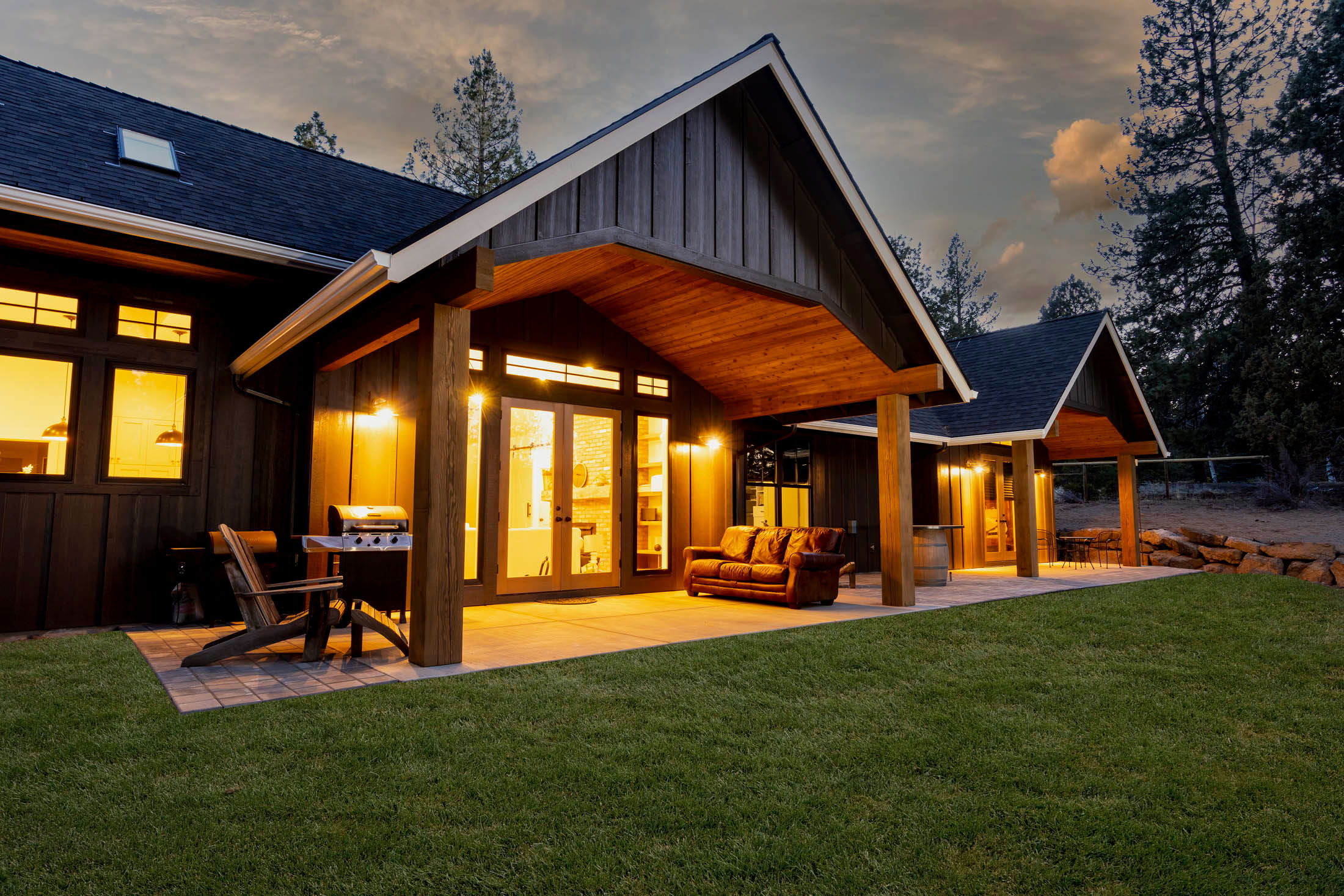 backyard in oregon custom home